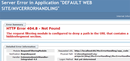 Error Handling in ASP NET MVC 5: Part 4 – Handling 404 Not Found