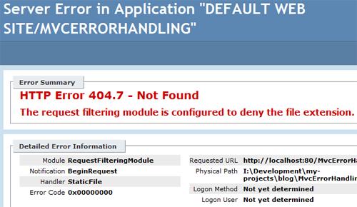 Error Handling in ASP NET MVC 5: Part 4 – Handling 404 Not